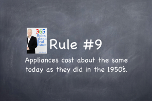 Rule #9: Appliances cost about the same today as they did in the 1950's